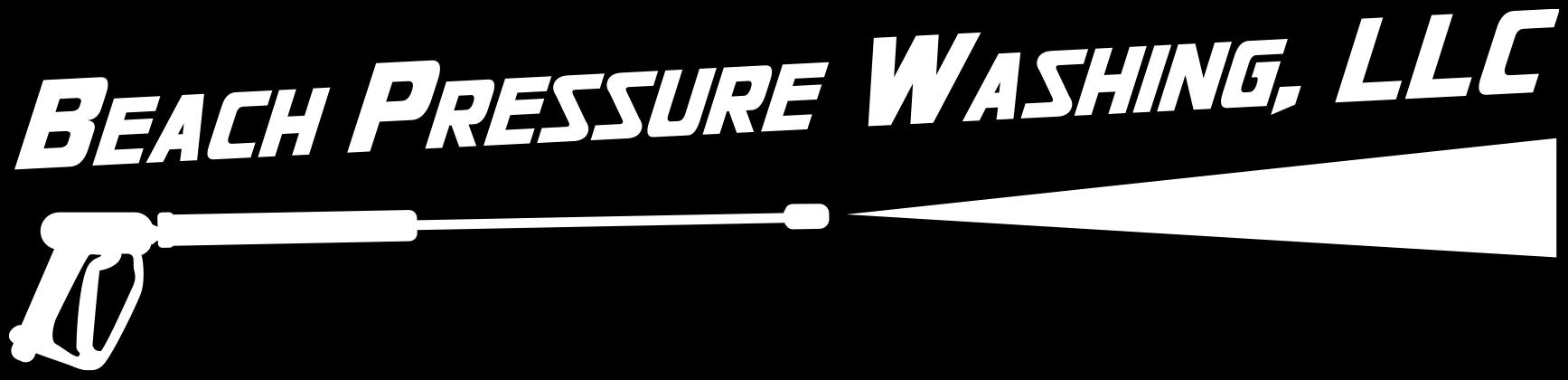 Beach Pressure Washing Logo White